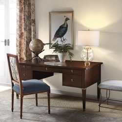 Sherie Leather Top Desk - Ballard Designs found on Bargain Bro India from Ballard Designs for $1799.00