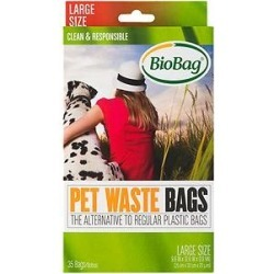 BioBag Large Pet Waste Bags, 35 count found on Bargain Bro Philippines from Chewy.com for $4.99