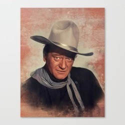 John Wayne, Hollywood Legend Canvas Print by Serpent Films - LARGE found on Bargain Bro India from Society6 for $141.59