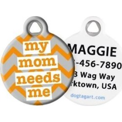Dog Tag Art My Mom Needs Me Personalized Dog & Cat ID Tag, Large