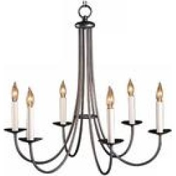 Hubbardton Forge Natural Iron Finish Six Light Chandelier found on Bargain Bro from LAMPS PLUS for USD $610.28