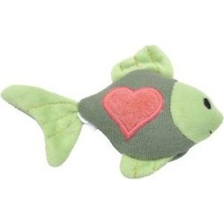 Turbo Scent Locker Heart Plush Animal Cat Toy & Catnip Spray, Fish found on Bargain Bro India from Chewy.com for $6.42
