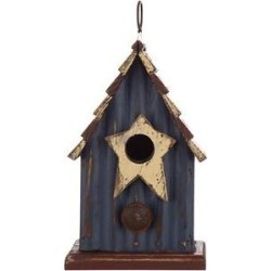 Glitzhome Solid Wood Rustic Bird House, 9.06-in found on Bargain Bro India from Chewy.com for $22.99