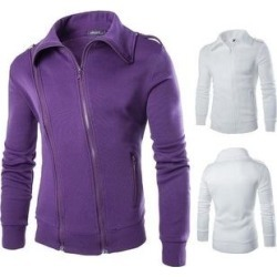 petite Fashion Mens Cultivating Short Paragraph Coat (Purple - S), Men's(cashmere) found on MODAPINS from Overstock for USD $33.92