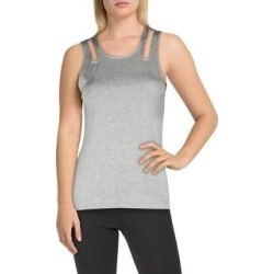 Bebe Sport Womens Tank Top Yoga Fitness - Heather Grey (XL), Women's, Gray(rayon) found on Bargain Bro Philippines from Overstock for $12.99