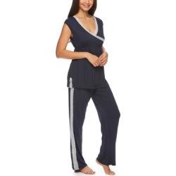 Lamaze Maternity Intimates Women's Sleep Bottoms deep - Deep Navy Maternity/Nursing Cap-Sleeve Pajama Set found on Bargain Bro India from zulily.com for $18.99