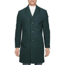 Tommy Hilfiger Mens Addison Coat Wool Blend Midi - Forest Green (42S), Men's, Dark Green found on Bargain Bro Philippines from Overstock for $95.24
