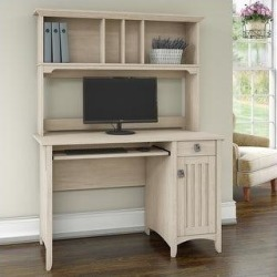The Gray Barn Lowbridge Mission Style Desk with Hutch (Antique White) found on Bargain Bro from Overstock for USD $141.22