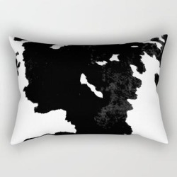 """Skins #1 Cow Rectangular Pillow by Jessica Ivy - Small (17"""" x 12"""")"""