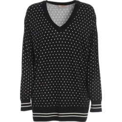 Star Print Maxi V Neck Jumper - Black - Twin Set Knitwear found on Bargain Bro India from lyst.com for $233.00