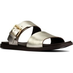 Clarks Ofra Slide Sandal - Metallic - Clarks Flats found on Bargain Bro from lyst.com for USD $83.60