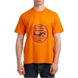 Men's Short Sleeve T-shirt Crew Neckline Jumper - Orange - Burberry T-Shirts found on Bargain Bro from lyst.com for USD $272.08