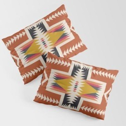 King Size Pillow Sham | Red Sun by Urban Wild Studio Supply - STANDARD SET OF 2 - Cotton - Society6 found on Bargain Bro from Society6 for USD $30.39