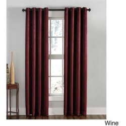 Lenox Crushed Textured Room Darkening Grommet Panel (50 x 08 - Wine)(Polyester, Solid) found on Bargain Bro from Overstock for USD $30.39