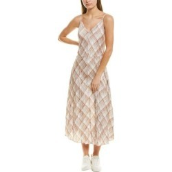 Vince Hazy Plaid Cami Slip Dress (4), Women's, White(polyester) found on Bargain Bro from Overstock for USD $117.03