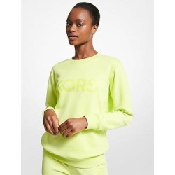 Michael Kors Logo Organic Cotton Blend Sweatshirt Green XS found on MODAPINS from Michael Kors for USD $105.00