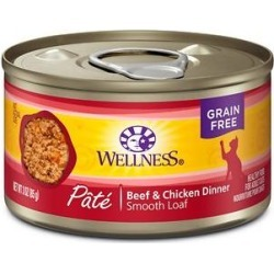 Wellness Complete Health Adult Beef & Chicken Formula Grain-Free Canned Cat Food, 3-oz, case of 24