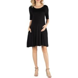 Soft Flare T Shirt Maternity Dress with Pocket Detail found on Bargain Bro Philippines from Overstock for $26.49