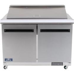 "Arctic Air AMT48R 48"" 2 Door Mega Top Refrigerated Sandwich Prep Table"