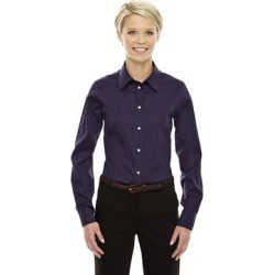 Crown Women's Collection Deep Purple Solid Stretch Twill Dress Shirt (M) found on Bargain Bro Philippines from Overstock for $28.49