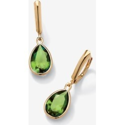 Women's Gold over Sterling Silver Drop EarringsPear Cut Simulated Birthstones by PalmBeach Jewelry in August found on Bargain Bro Philippines from Ellos for $37.99