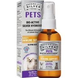 Sovereign Silver Pets Daily+ Immune Support Bio-Active Silver Hydrosol Small Dog & Cat Supplement, 2-oz bottle found on Bargain Bro from Chewy.com for USD $11.39