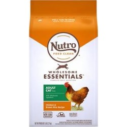 Nutro Wholesome Essentials Adult Chicken & Brown Rice Recipe Dry Cat Food, 5-lb bag