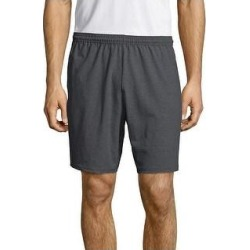 petite Hanes Men's Jersey Pocket Short (Charcoal Heather - L), Grey Grey found on Bargain Bro from Overstock for USD $13.22
