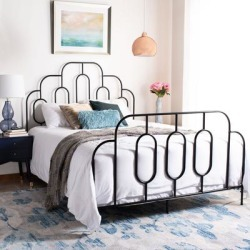 Safavieh Paloma Retro Metal Bed found on Bargain Bro from Overstock for USD $259.91