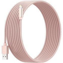 Posh Tech Lightning Cables Rose - 10' Rose Goldtone Braided Lightening Cable found on Bargain Bro from zulily.com for USD $9.11