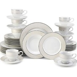 Mikasa Parchment 40-pc. Dinnerware Set, White found on Bargain Bro from Kohl's for USD $186.19