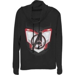 Fifth Sun Women's Sweatshirts and Hoodies BLACK - Avengers Black Endgame Logo Armor Cowl Neck Pullover - Women & Plus found on Bargain Bro from zulily.com for USD $21.27