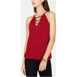 INC Womens Red Embellished Sleeveless V Neck Tank Top Size XS (Red - XS), Women's(Polyester, Solid) found on Bargain Bro India from Overstock for $14.98