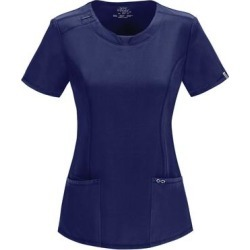 Cherokee Medical Uniforms Infinity-Round Neck Top (Size S) Navy, Polyester,Spandex found on Bargain Bro Philippines from ShoeMall.com for $28.99