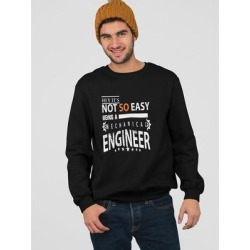 Mechanical Engineer Tagline Sweatshirt Men's -Image by Shutterstock (L), Black(cotton) found on Bargain Bro Philippines from Overstock for $24.99