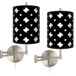 Crossroads Tessa Brushed Nickel Swing Arm Wall Lamps Set of 2 found on Bargain Bro Philippines from LAMPS PLUS for $199.99
