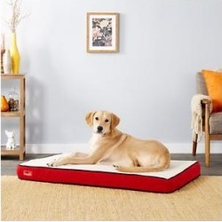 Brindle Waterproof Orthopedic Pillow Cat & Dog Bed w/Removable Cover, Red Sherpa, Large found on Bargain Bro from Chewy.com for USD $53.19