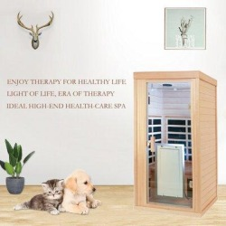 Okngr Mini Infrared Sauna Room Household Whole Body Dehumidified Detoxified Wooden Sweating Infrared Sauna Room, Size 67.0 H x 32.28 W x 32.28 D in found on Bargain Bro Philippines from Wayfair for $1939.99