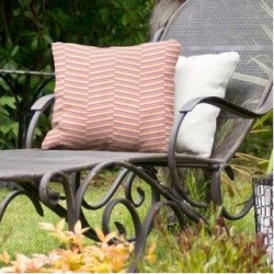 Rockport 3-color Fractured Stripes Indoor/Outdoor Pillow by Havenside Home (20 x 20 - Pink Purple & Yellow - N/A), Multicolor(Synthetic Fiber) found on Bargain Bro Philippines from Overstock for $56.49