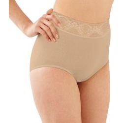 Bali Lacy Skamp Brief 2744 - Women's, Size: 6, Lt Beige found on Bargain Bro from Kohl's for USD $8.36