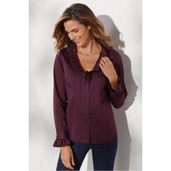 Women Boleyn Shirt by Soft Surroundings, in Vermillion Purple size 1X (18-20)