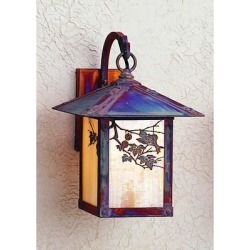 Arroyo Craftsman Evergreen 13 Inch Tall 1 Light Outdoor Wall Light - EB-9SF-GW-S found on Bargain Bro from Capitol Lighting for USD $393.68