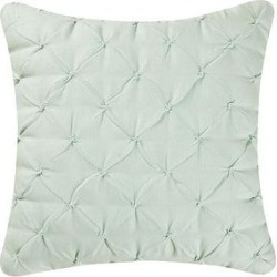 Diamond Tuck 18 x 18 Pillow (Light Blue), C&F Home(Cotton, Solid Color) found on Bargain Bro Philippines from Overstock for $38.49