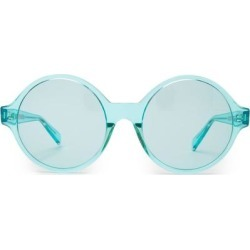 Oversized Round Acetate Sunglasses - Blue - Céline Sunglasses found on Bargain Bro India from lyst.com for $430.00
