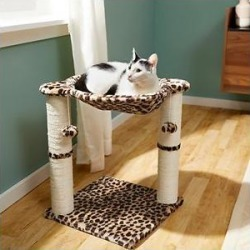 Frisco 20-in Faux Fur Cat Tree, Cheetah found on Bargain Bro from Chewy.com for USD $16.60