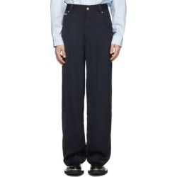 Navy Satin Titan Trousers - Blue - Eytys Pants found on MODAPINS from lyst.com for USD $400.00