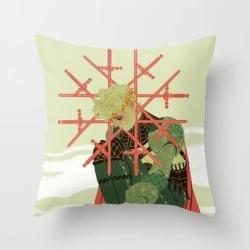 Throw Pillow   8 Of Swords by Sara Kipin - Cover (16