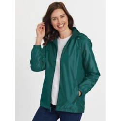 Women's Plus Totes Water-Resistant Storm Jacket, Everglade Green 2XL found on Bargain Bro India from Blair.com for $36.99