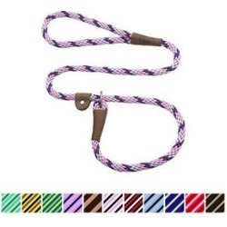 Mendota Products Large Slip Striped Rope Dog Leash, Lilac, 4-ft long, 1/2-in wide found on Bargain Bro Philippines from Chewy.com for $17.99