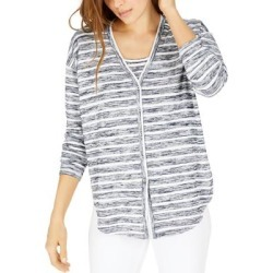 Tommy Hilfiger Womens Cardigan Top Striped Button-Down - Navy found on Bargain Bro from Overstock for USD $25.91